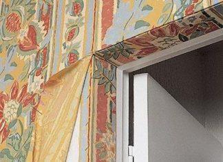 Обивка стен тканью своими руками