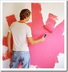 Покраска обоев водоэмульсионной краской