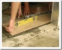Укладка плитки на цементный раствор