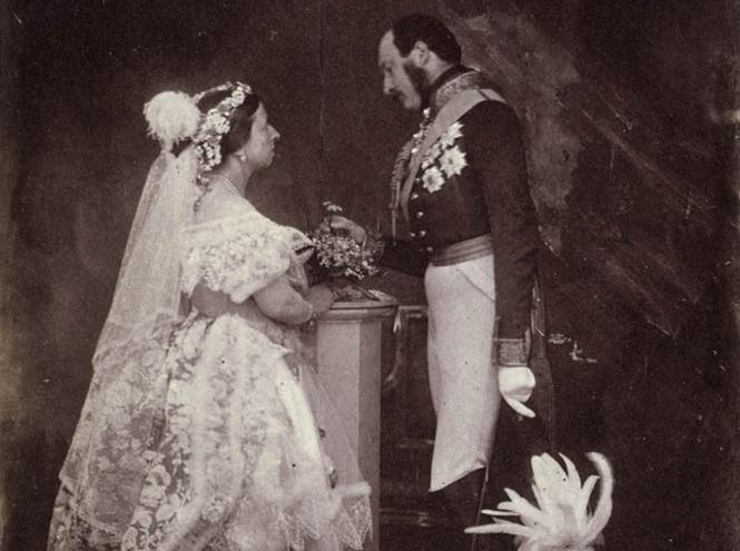 Принц Альберт и королева Виктория. Фотография
