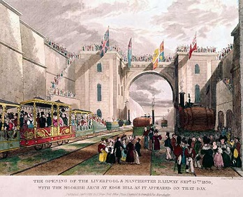 Открытие дороги состоялось 15 сентября 1830 г. в Ливерпуле