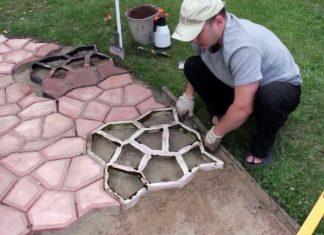 Как самому сделать тротуарную плитку