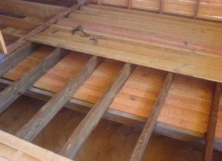Укладка пола в деревянном доме