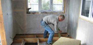 Утепление деревянного пола на даче